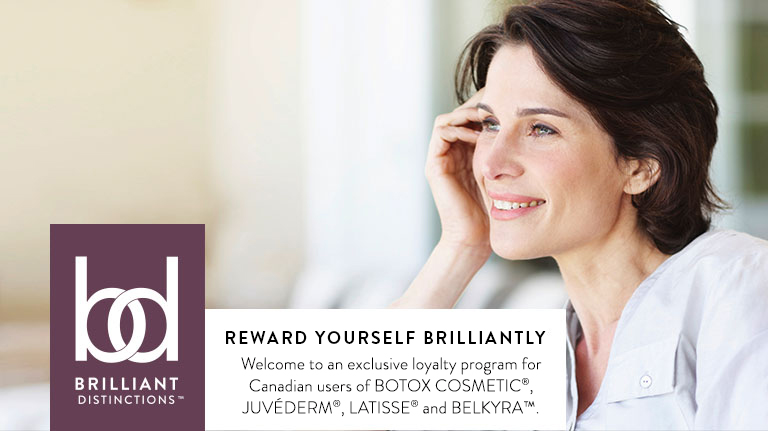 Brilliant Distinctions Loyalty Program for Botox, Juvèderm, Latisse, and BELKYRA