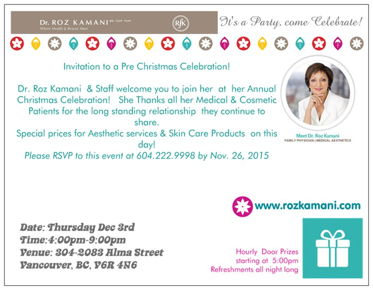 Dr Kamani's Annual Pre-Christmas Winter Celebration, Exclusive Specials!